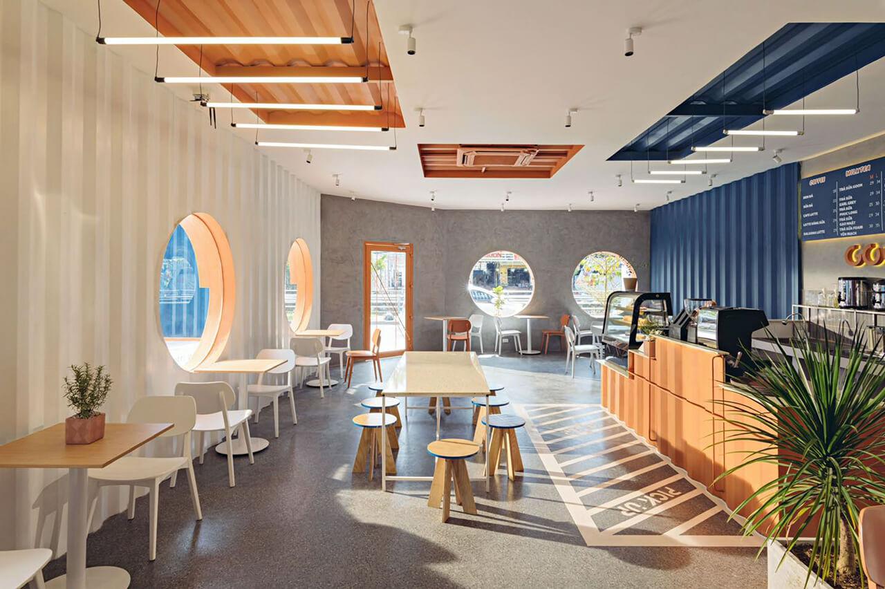 Không gian bên trong Goon Yard Coffee Cần Thơ