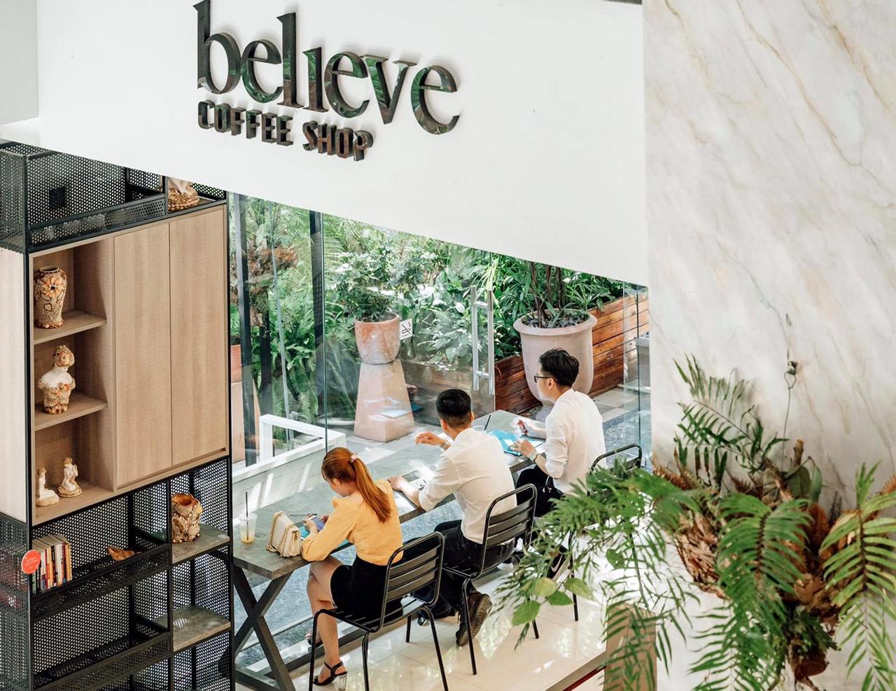 Không gian làm việc ở Believe Coffee Shop Cần Thơ