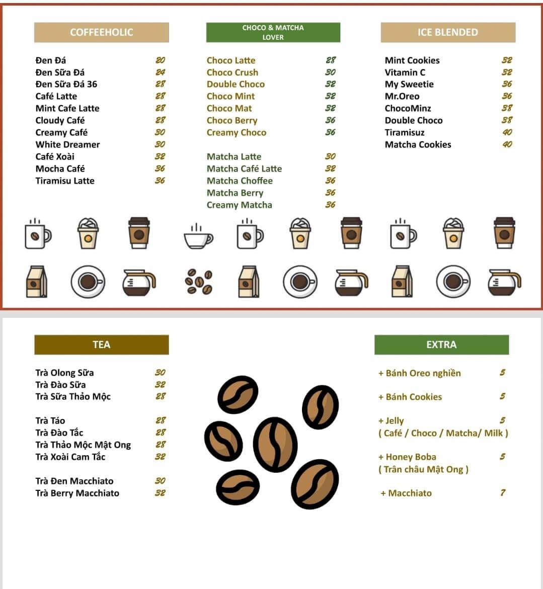 Menu 36 Coffee Studio