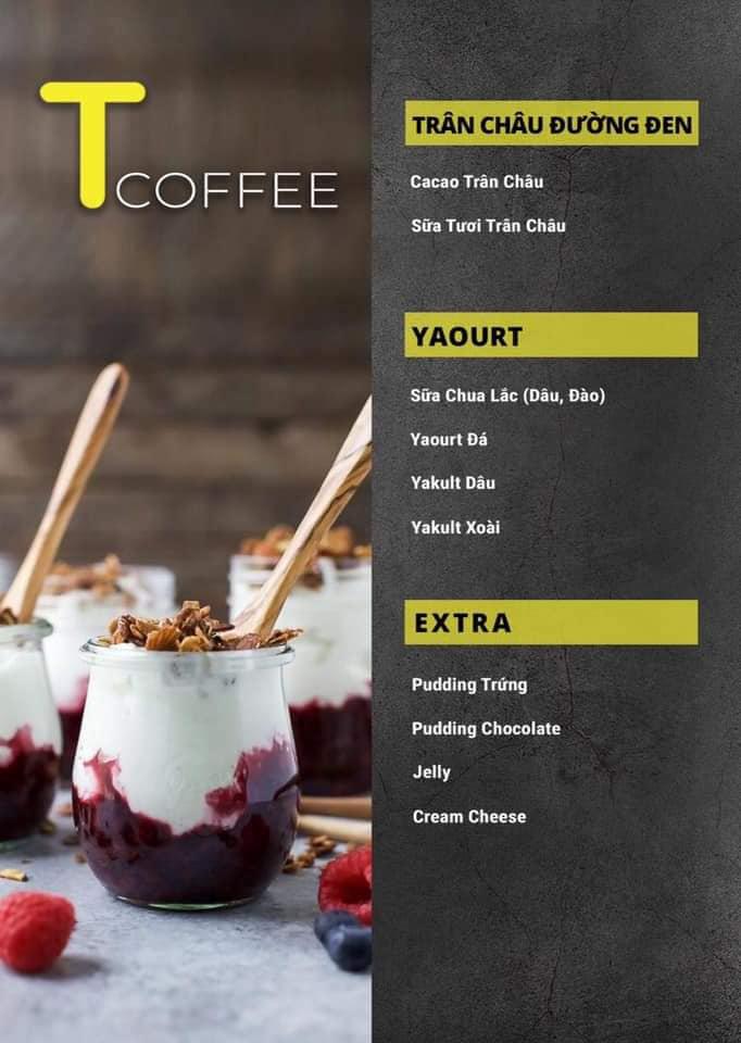 Menu các món nước khác ở T Coffee