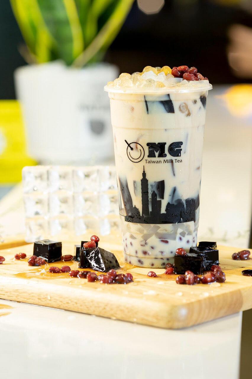 Món trà sữa trân châu ở quán OMG Taiwan Milk Tea Cần Thơ