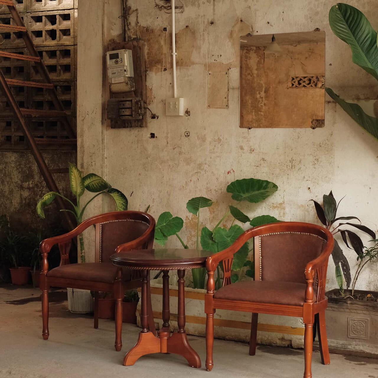 Nét trang trí đậm nét retro và vintage của quán
