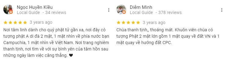 Đánh giá khách tham quan về chùa Linh Ẩn An Giang